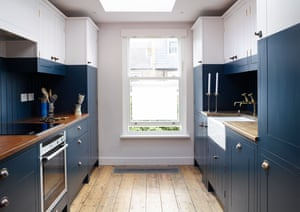 Material world: the blue and white kitchen.