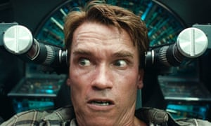 Arnie in Total Recall.
