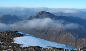 Great Gable seen from Scafell Pike.