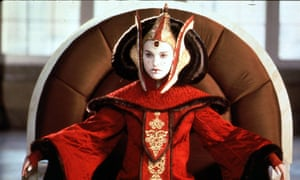 Watch the throne … Natalie Portman in The Phantom Menace.