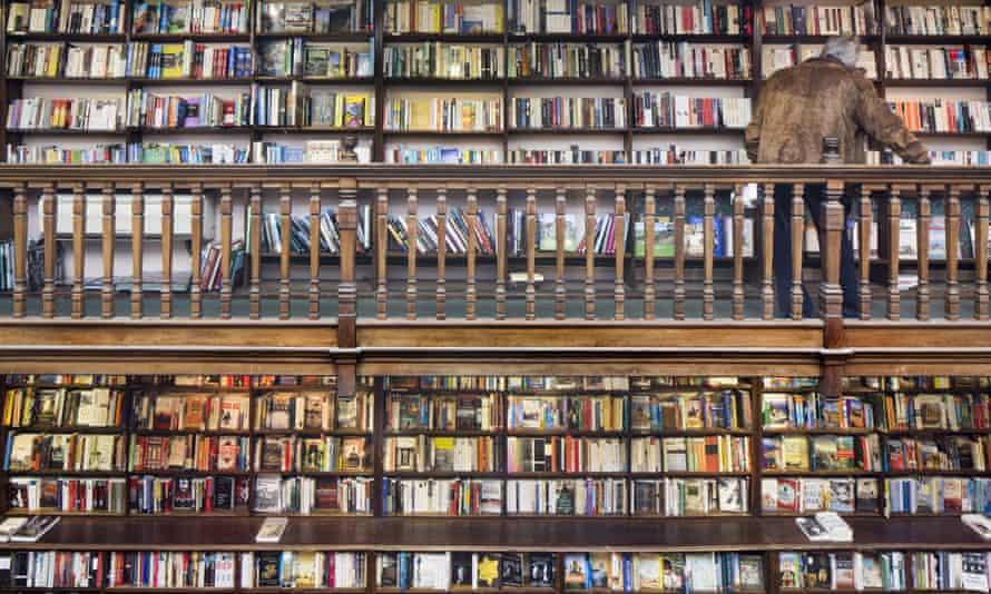 book shop shelves