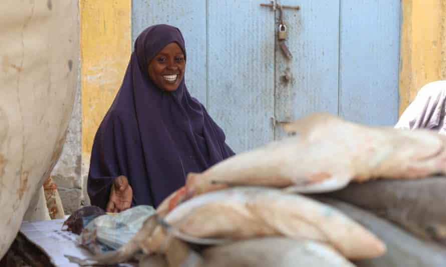 Fardowsa Mohamed Ahmed sells fish at a traditionally male-dominated fish market in Mogadishu, Somalia