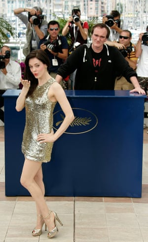 Rose McGowan and Quentin Tarantino in 2007.