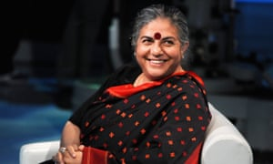 Making a difference: Vandana Shiva, one of the world's greatest environmental activists.