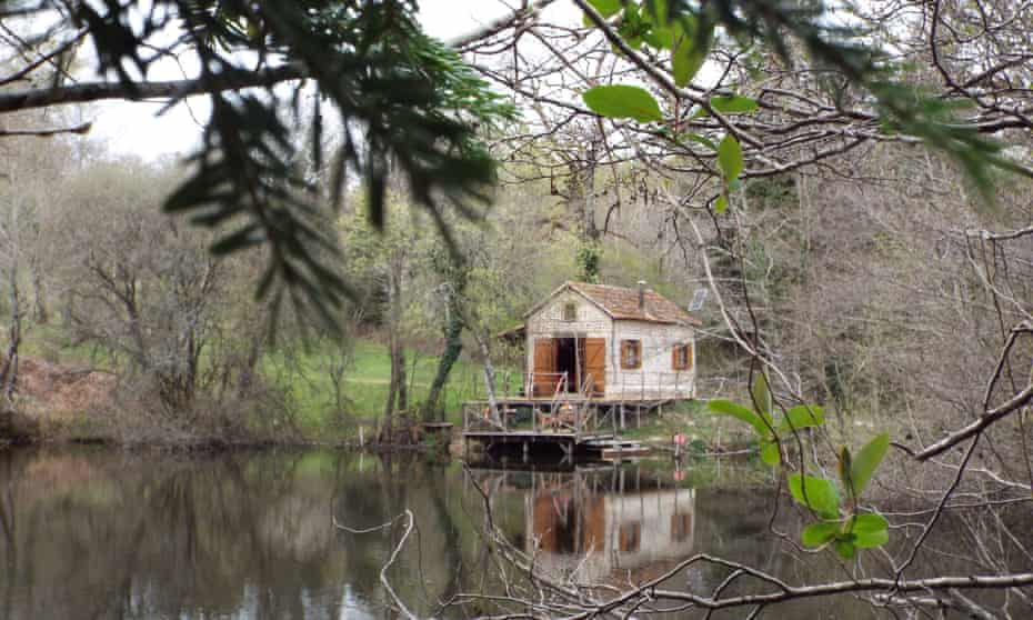 Fisherman's cabin in the Dordogne, south west France