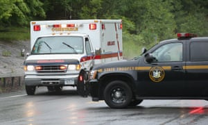 Ambulance believed to be transporting David Sweat to hospital in Constable, NY State Police.