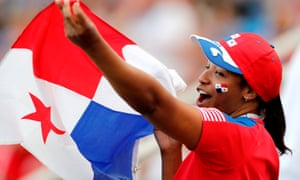 A Panama supporter before the nation's first game, against Belgium.