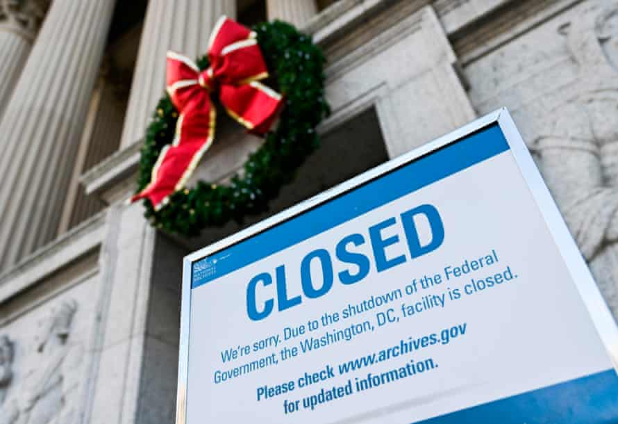The National Archives building in Washington DC was closed on 22 December.