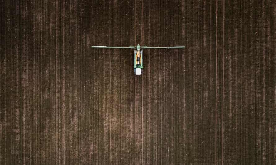 A crop sprayer in Doebern, Germany