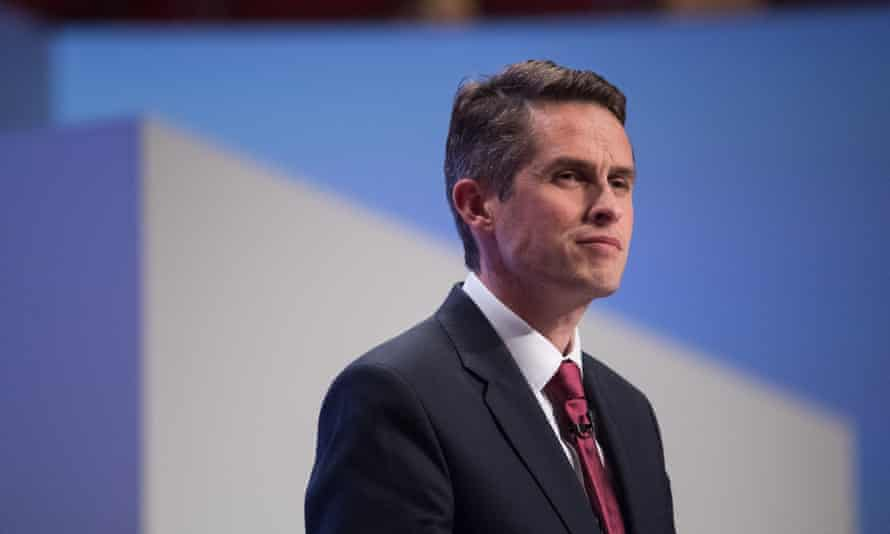 Gavin Williamson at the party conference.