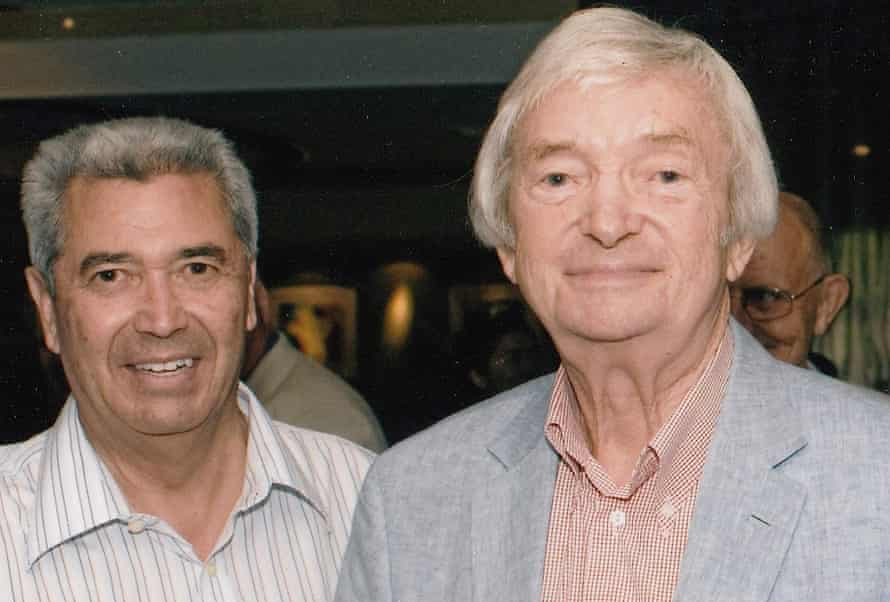 Rex Sellers with another member of the Australian leg spin fraternity, the late Richie Benaud.