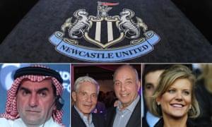 Nouveaux propriétaires potentiels de Newcastle: Yasir Othman Al-Rumayyan, gouverneur du Fonds d'investissement public saoudien, Simon et David Reuben et Amanda Staveley.