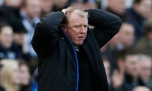 Steve McClaren during his last match as Newcastle manager