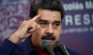 Nicolas Maduro makes a speech after casting his vote in a mayoral election in Caracas