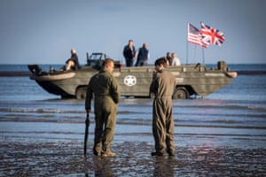 Amphibious vehicle at Arromanche, Normandy