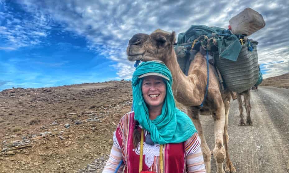 Alice Morrison trekking in Morocco