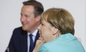 Angela Merkel with David Cameron