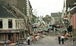 Market Street, Omagh, Co Tyrone in 1998, after the deadliest bombing in the Northern Ireland conflict.