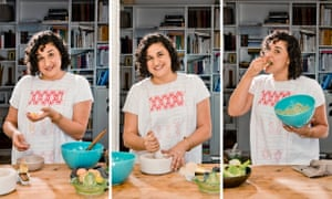 """Samin Nosrat"""" 'I learned that, if I was still enough, I could hear if a braise had come to a boil without having to lift the lid and check'."""
