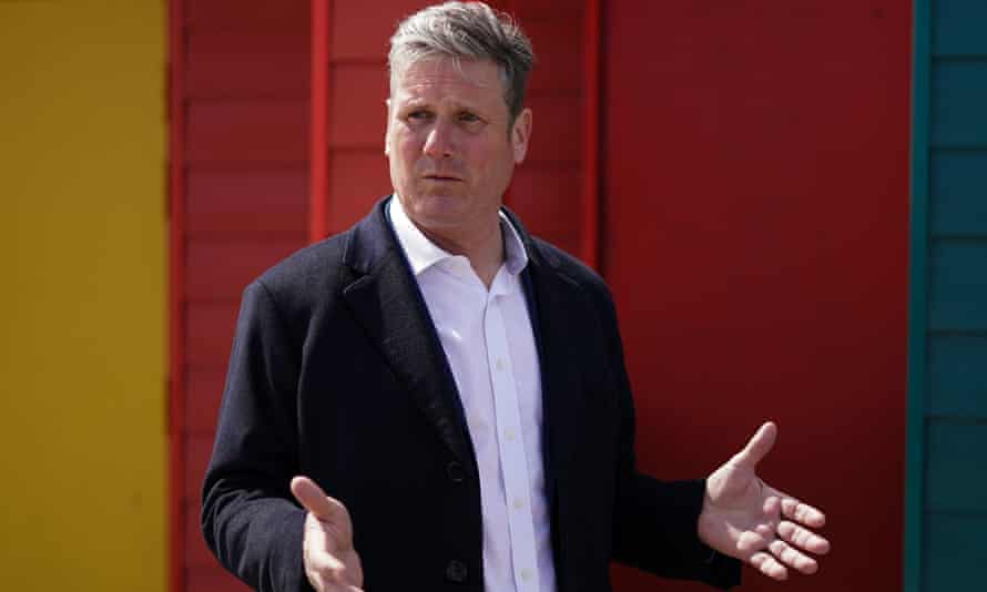Keir Starmer visits Seaton Carew in the Hartlepool constituency earlier this month.