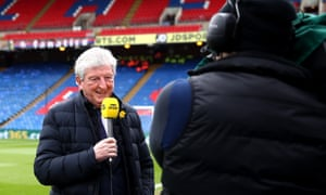 Crystal Palace manager Roy Hodgson gives an interview for BBC Sport.