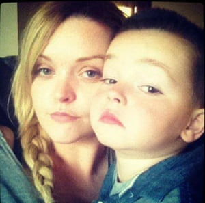 Jenny Quinn and her son.
