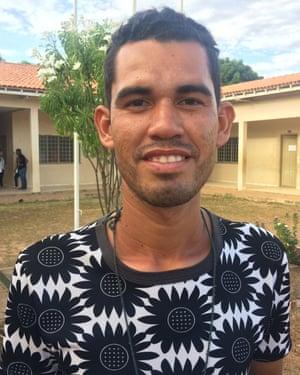Efraín Godoy, 29, one of dozens of migrants who have found shelter in the indigenous village of Vila Três Corações.