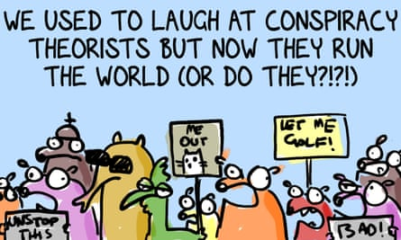 Collection of the cartoon strip's characters holding up protest placards with the title: