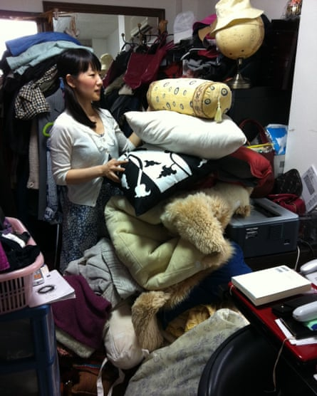Marie Kondo helping to clear an apartment in Tokyo.