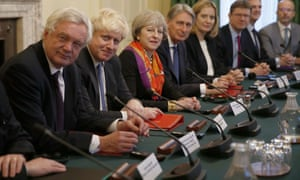 Theresa May and members of her cabinet
