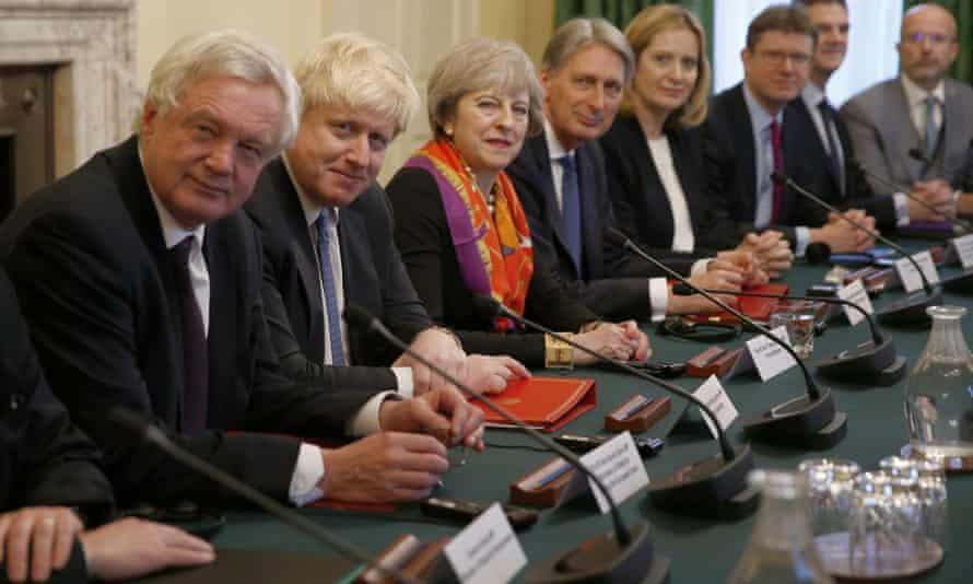 David Davis, Boris Johnson, Theresa May, Philip Hammond, Amber Rudd and Greg Clark.