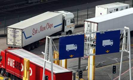 A checkpoint area at Dover.
