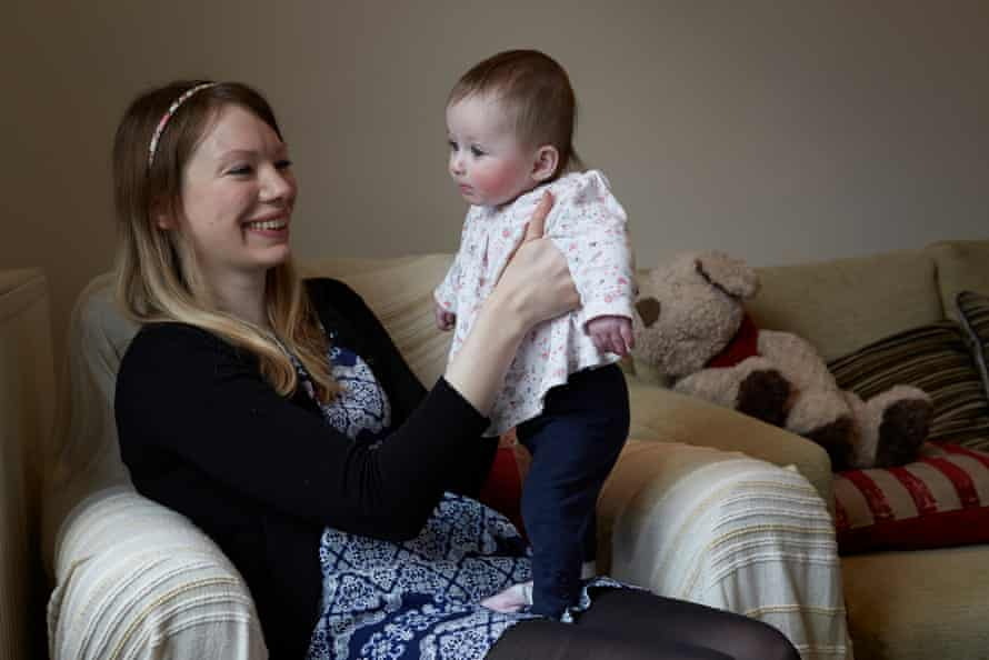 Mandy Ryan wad an emergency caesarean with Abigail, who is now six months old.