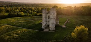 Shortlisted Arial view of Donnington Castle by Jon Reid
