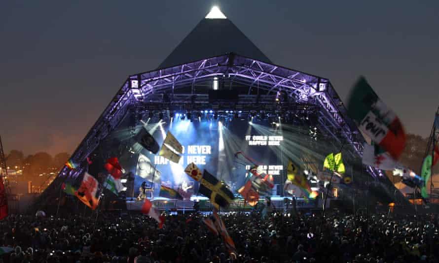 U2 perform on Pyramid stage