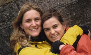 Jo Cox, right, with her sister Kim Leadbeater in 2009.