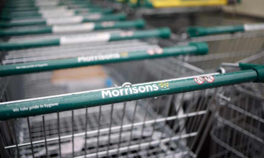 row of Morrisons trolleys
