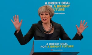 Conservative prime minister Theresa May