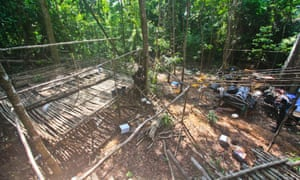 A picture from Royal Malaysian Police shows an abandoned human trafficking camp where graves were found nearby, close to the border with Thailand at Wang Kelian, Malaysia.
