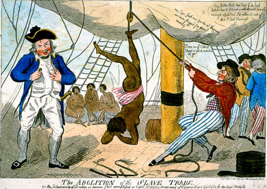 The Abolition of the Slave Trade, 1792 by Isaac Cruikshank.