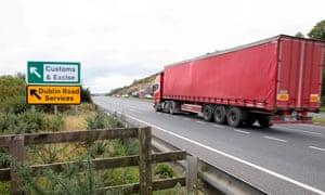 Customs post between Northern Ireland and Ireland