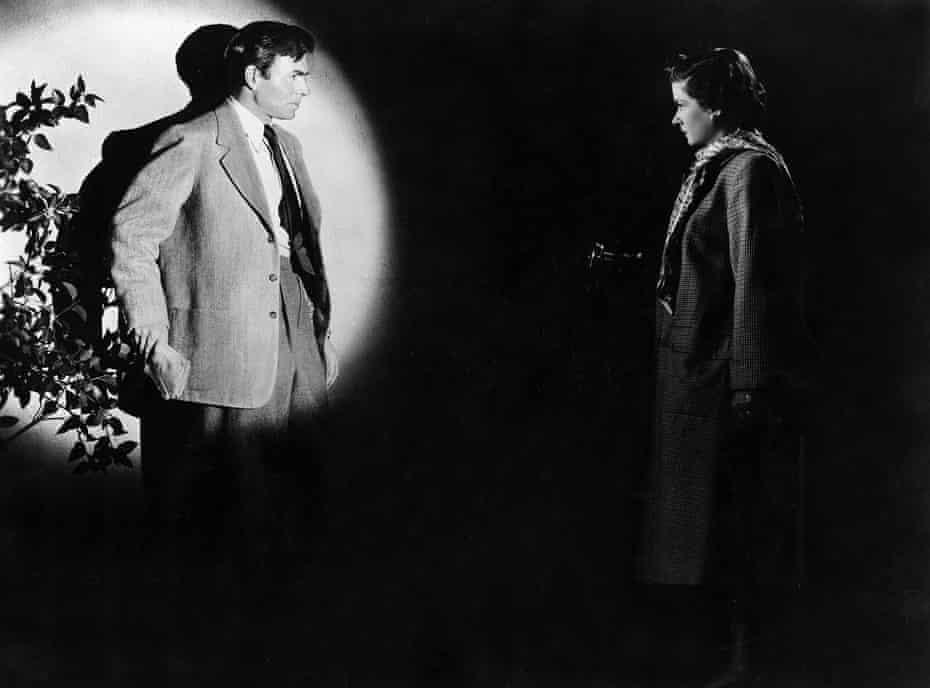 James Mason an Joan Bennett in The Reckless Moment.