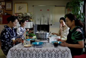 Koiku, Mayu, Maki and Ikuko, who are geisha, have lunch together at Ikuko's home, during the coronavirus disease (COVID-19) outbreak, in Tokyo, Japan, July 11