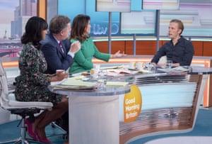 Piers Morgan and Susanna Reid with Laurence Fox 'Good Morning Britain' TV show, London, UK - 22 Jan 2020