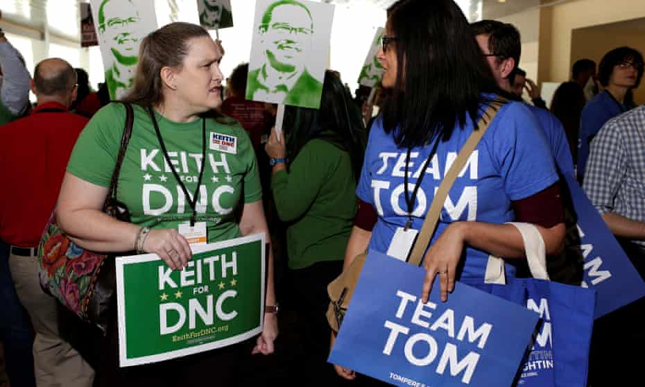 Supporter of Keith Ellison and Tom Perez, the two candidates for Democratic National Committee Chair.