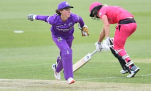 Emily Smith of the Hurricanes in action during the Women's Big Bash League match against the Sydney Sixers last week.
