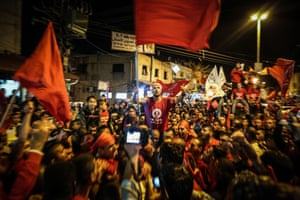 Fans celebrate as Hapoel Ironi Baqa al-Gharbiyye are promoted to the third division