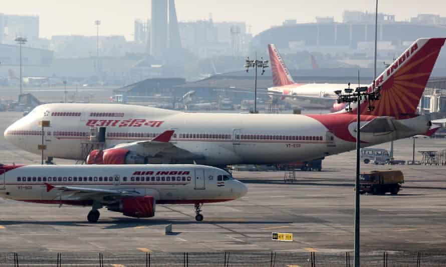 Air India planes in Mumbai