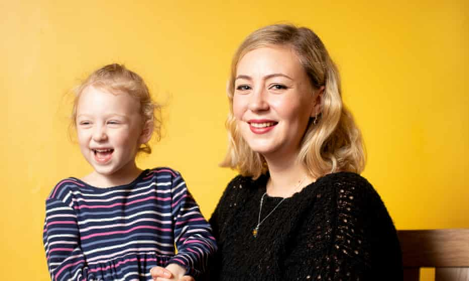 Klara Dollan with her daughter, Amelia, now aged three.