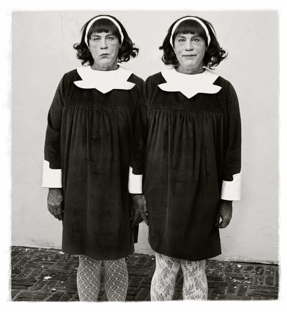 When you're twinning, you're winning … Sandro Miller's photograph of John Malkovich, a tribute to the work of Diane Arbus.